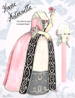 Headless Marie Antoinette paper doll | by LisaPerrinArt