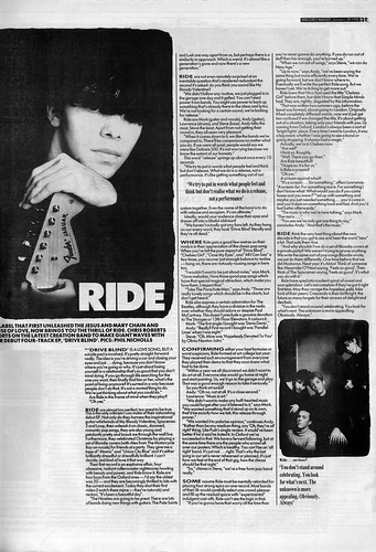 Ride Interview January 1990 | by creationarchive