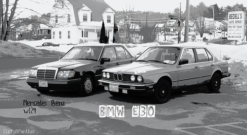 Julie's Mercedes Benz & My BMW | by sixty8panther