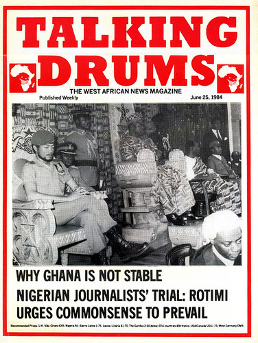 talking drums 1984-06-25 why Ghana is not stable - Nigerian journalist's trial Rotimi