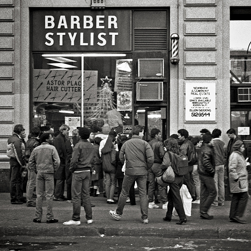 Gettin A Morning Haircut Astor Place Hair Cutter New Flickr
