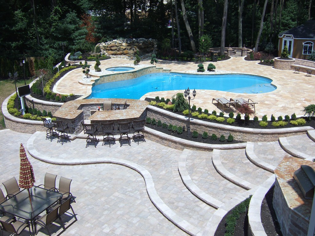 Luxury full pool and patio landscape and design with new a… | Flickr