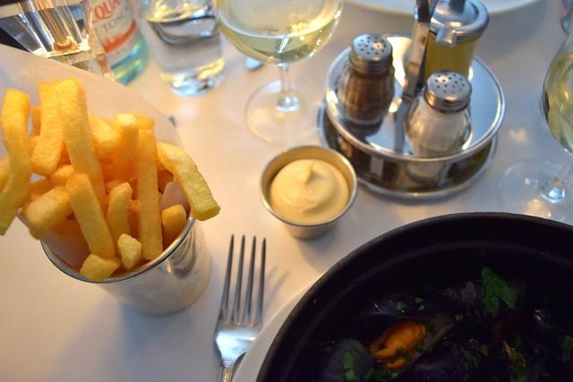 French Fries & Mayo at Cafe Monico, Soho | www.rachelphipps.com @rachelphipps