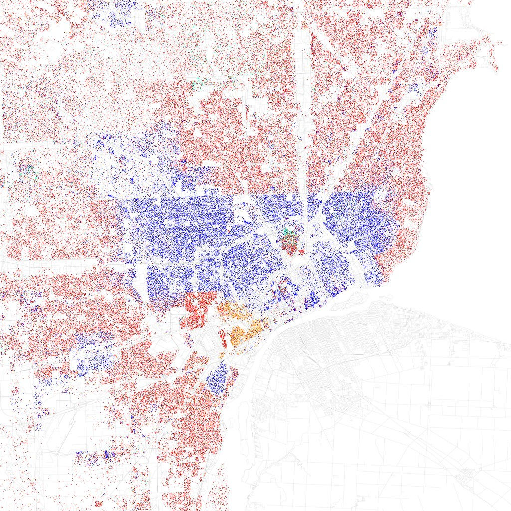 Race And Ethnicity Detroit Maps Of Racial And Ethnic Flickr - Us map by ethnicity