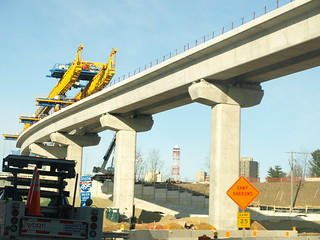 Elevated track over Capital Beltway EXIT 46 interchange | by wfyurasko