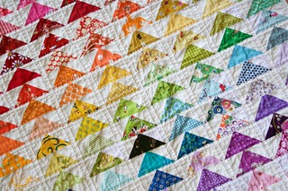 rainbow geese quilt | by a quilt is nice