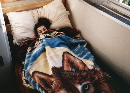 me in a wolf blanket being cute | by witchbitch666