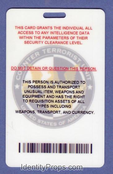24 ctu visitor counter terrorist unit usa backside id card flickr