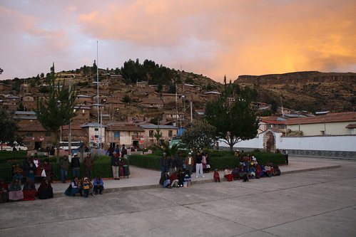 Sunset in Sacsamarca | by The Advocacy Project
