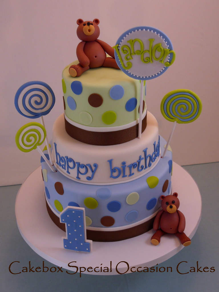 Lollipop Birthday Cake I Really Loved The Color Palette Of Flickr