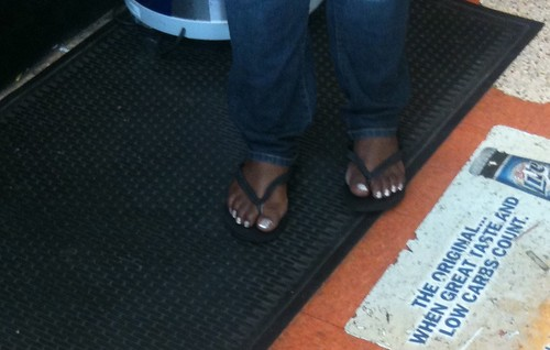 Beautiful Amazon Ghetto Ebony Feet At The Corner Store-2 -1747