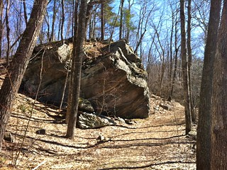 Large erratic boulder on Nipmuck Trail in Yale-Myers Forest | by morrowlong