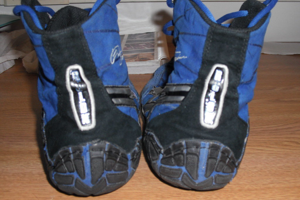 SOLD - Asics Blue/Black Rulon Wrestling Shoes (Backs) | Flickr