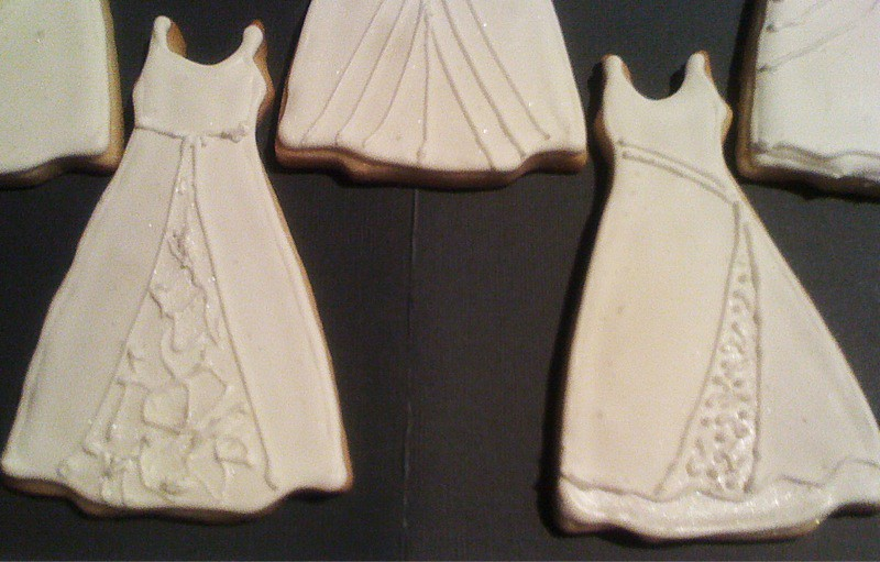 Wedding gown cookies   I was asked to make bridal shower coo…   Flickr