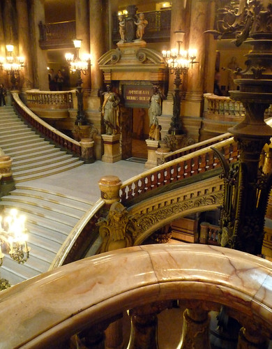 Garnier's Paris Opéra, Looking Down on the Grand Stair | by profzucker