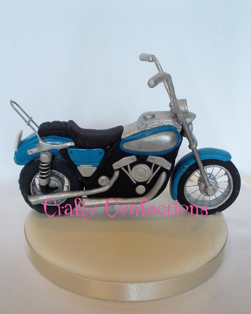 Hand Made Harley Davidson Motorbike For A Wedding Cake Top Flickr