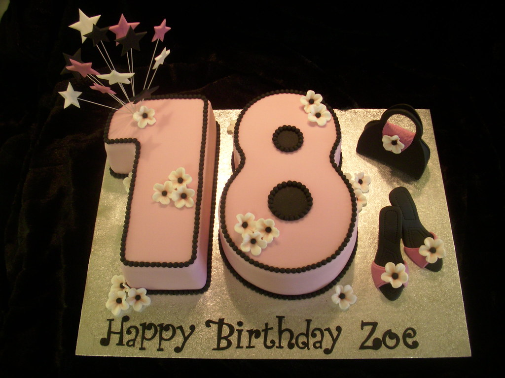 No18 Birthday Cake Louise Jackson Flickr