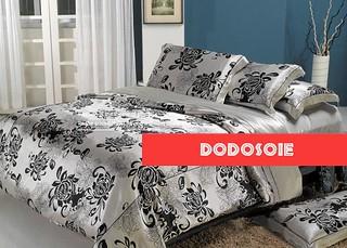 parure de lit en soie chrysanth me argent parure draps de flickr. Black Bedroom Furniture Sets. Home Design Ideas