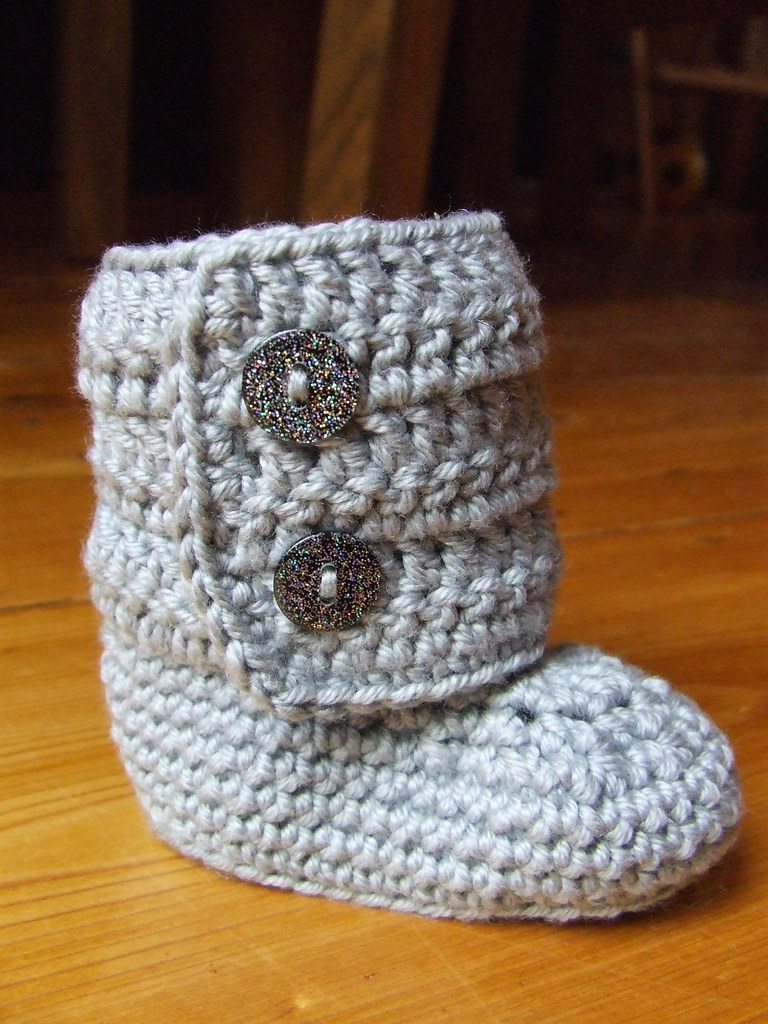 Baby \'ugg-style\' crochet booties | Using a pattern from an E… | Flickr