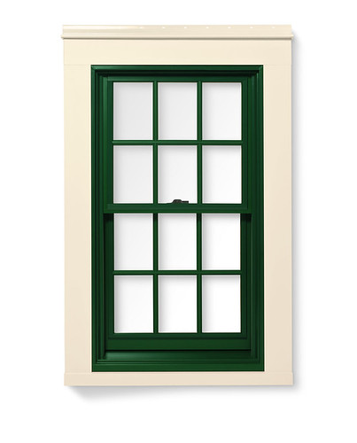 400 series double hung window with exterior trim 400 for Andersen window 400 series