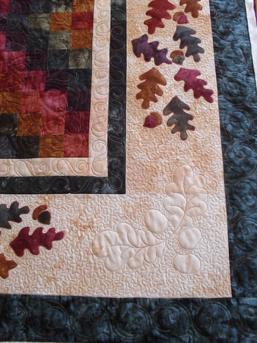 Acorns and Oak Leaves Pieced by Kathy Watson Quilted by Je? Flickr