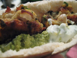 Falafel Pita with Hummus, Tzatziki, and Cucumber | by techmsg