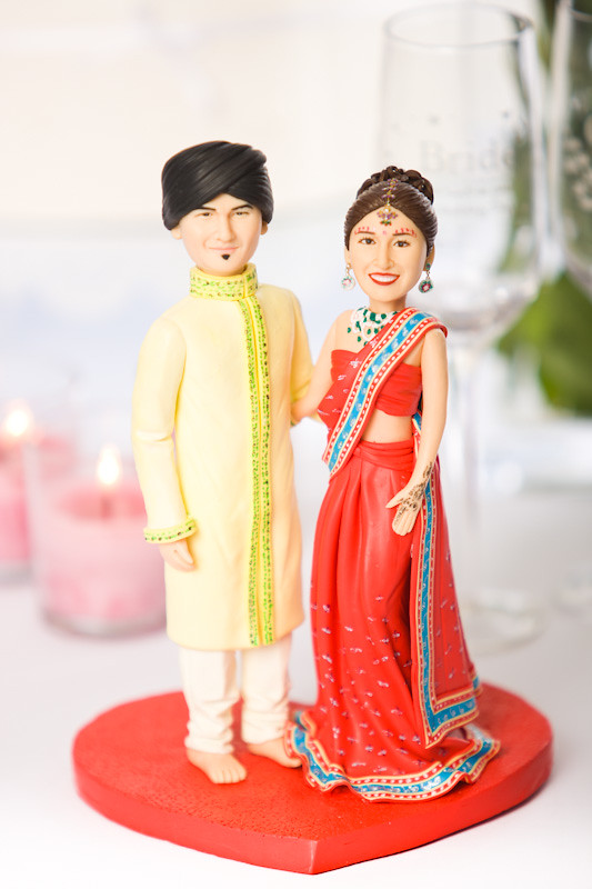 ... Indian Wedding Cake Topper (Full Front View) | By Topperland