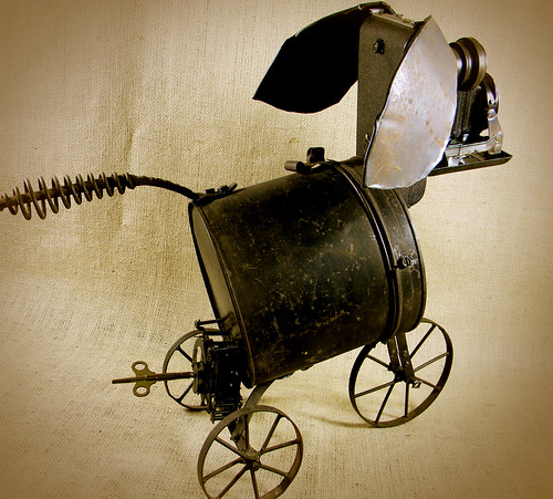 VICTORIA - The Steampunk Queen Of Robot Dogs - robot assemblage - Reclaim2Fame | by Reclaim2Fame