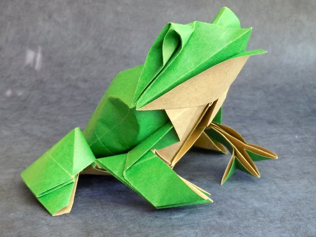 How to make Origami Frog (michael g. lafosse) - YouTube | 376x500