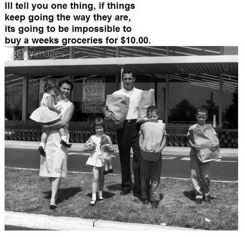 Groceries - Comments You May Have Overheard in 1955 Series shared by the Nicheprof | by nicheprof