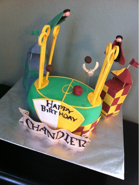 A Harry Potter Quidditch Pitch Birthday Cake Posted By Tw Flickr