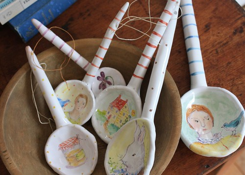 spoons in a bowl | by Julie Whitmore Pottery