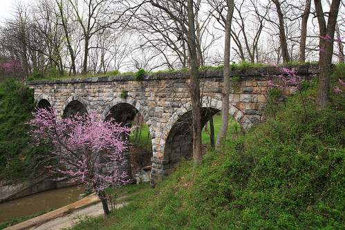 Valley Railroad Stone Bridge with Redbuds in bloom | by VaDOT