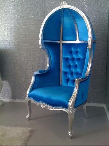 Light Blue Velvet Chair
