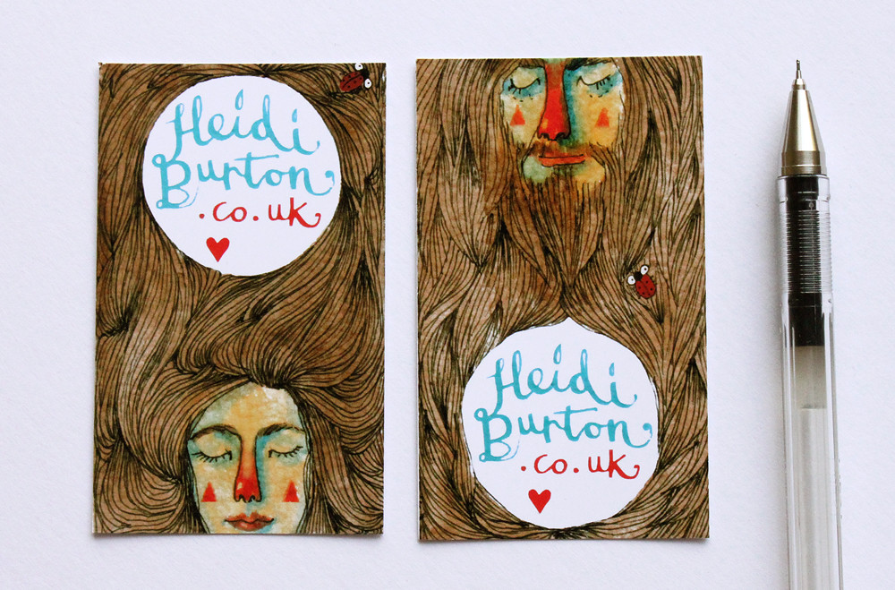New illustration business cards | I created these illustrate… | Flickr