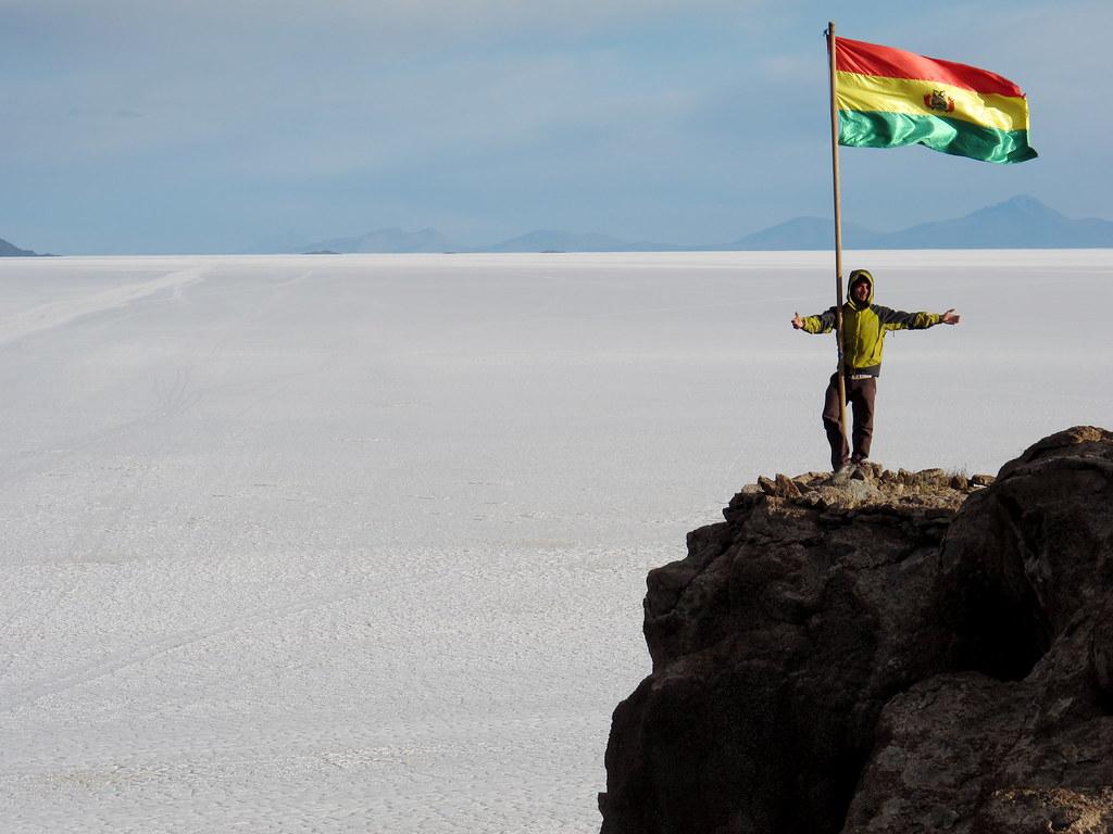 Victor @ Isla de Pescado, Bolivia