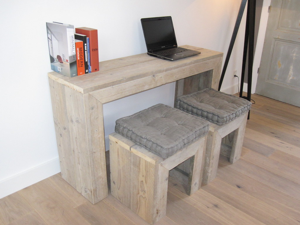 Pc tafel bureau steigerhout te koop bij w tdesign flickr