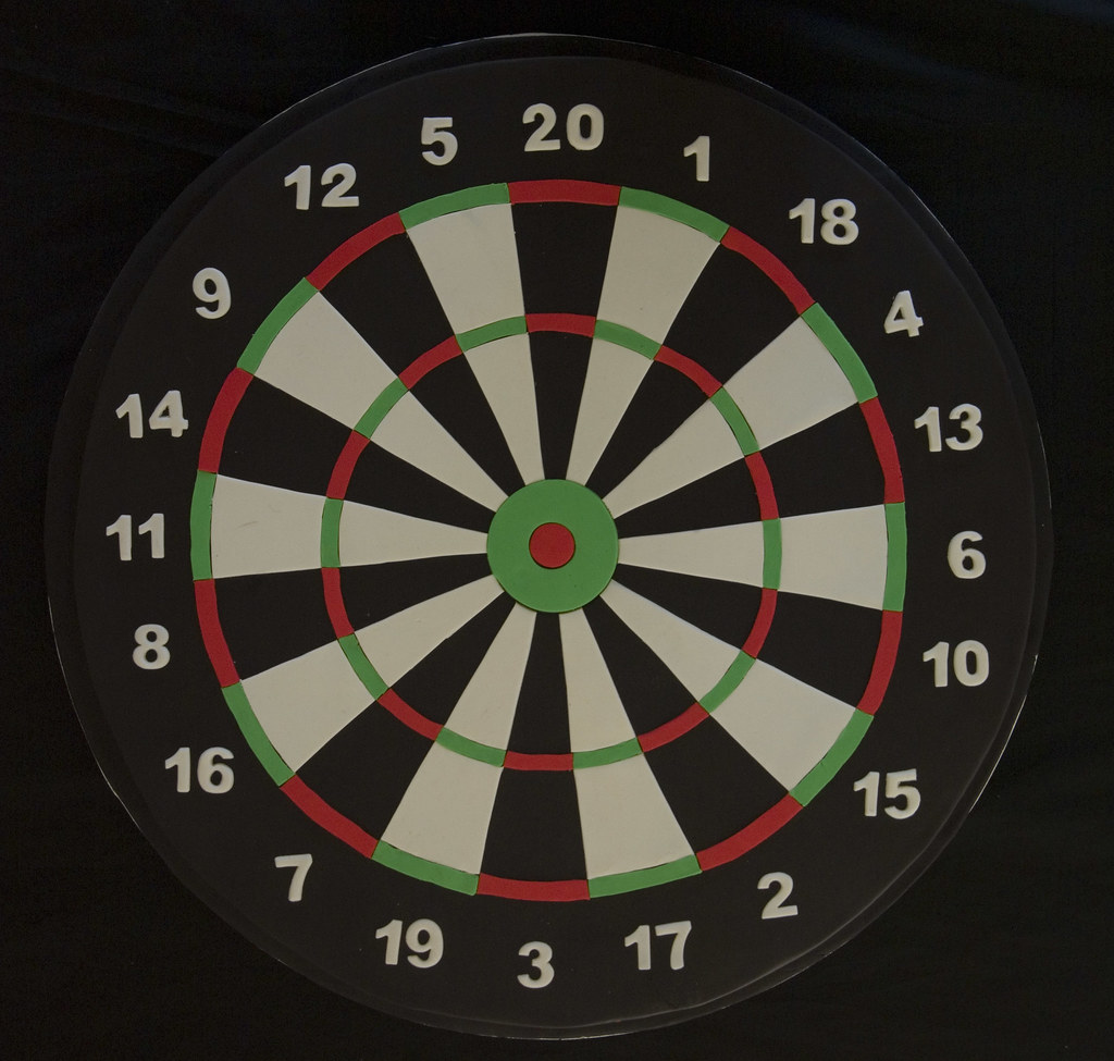 Dartboard 40th Birthday Cake I Made This True To Size So I Flickr