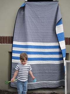 Jack's stripes (back) | by Leigh - leedle deedle quilts