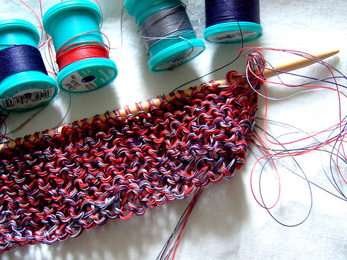 Knitting with Sewing Thread | by annekata