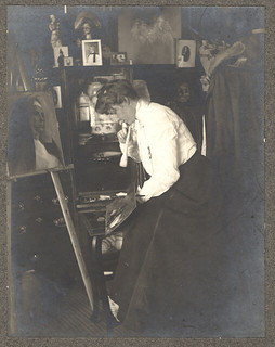 Charlotte Hulme, An Artist at Her Easel | by Photo_History - Here but not Happy