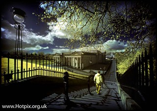 Edinburgh Playfair Steps, Scotland. Colour IR | by @HotpixUK -Add Me On Ipernity 500px