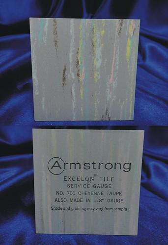 Armstrong Excelon Vinyl Asbestos Floor Tile Sample 700