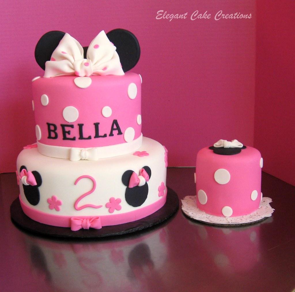 Minnie Birthday Cake Minnie mouse theme birthday for 2 yea Lori