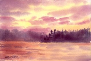 Canoe Lake(Watercolor) | by STUNBELSHOT