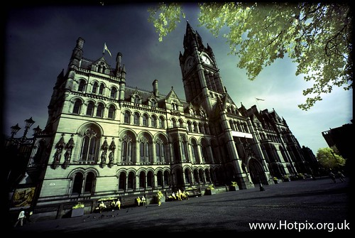 Manchester Town Hall UK (Colour Infra Red) | by @HotpixUK -Add Me On Ipernity 500px