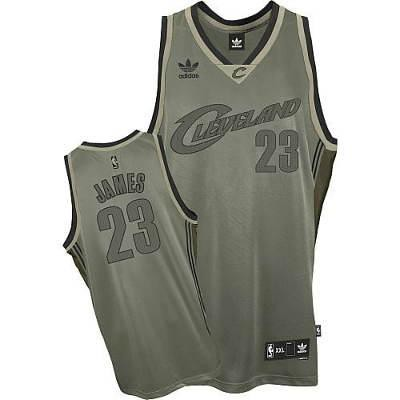 the latest 76760 01eeb Cleveland Cavaliers #23 LeBron James Grey Jersey | cheap Cle ...