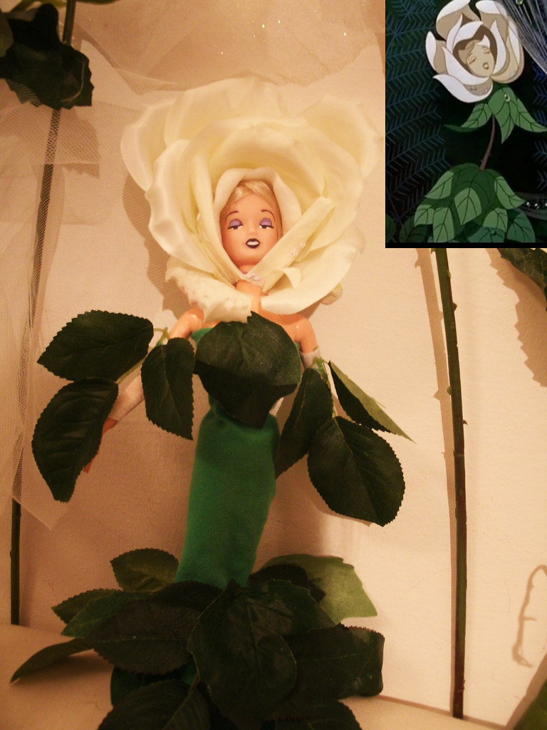 """disney """"white rose"""" doll ooak from the movie """"alice in won… 