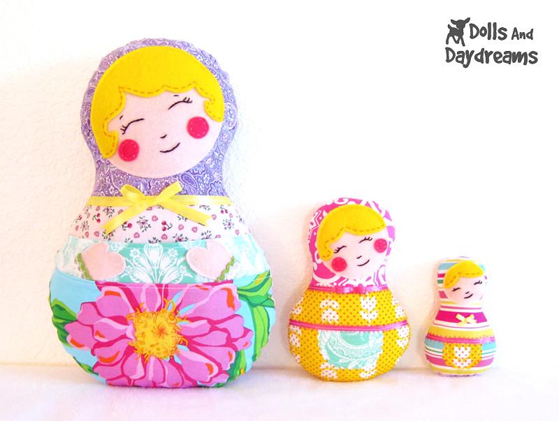 Babushka Kawaii Russian nesting doll sewing pattern 2 | Flickr