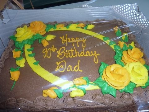 Dads 90th Birthday Cake
